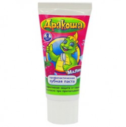 Зубная паста для детей, Дракоша гелевая малина 60 мл