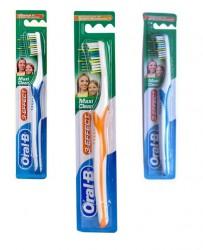 Зубная щетка, Орал-би 3 эффект макси клин 40 средней жесткости