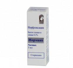 Нормакс, капли глазн. и уш. 0.3% 5 мл №1